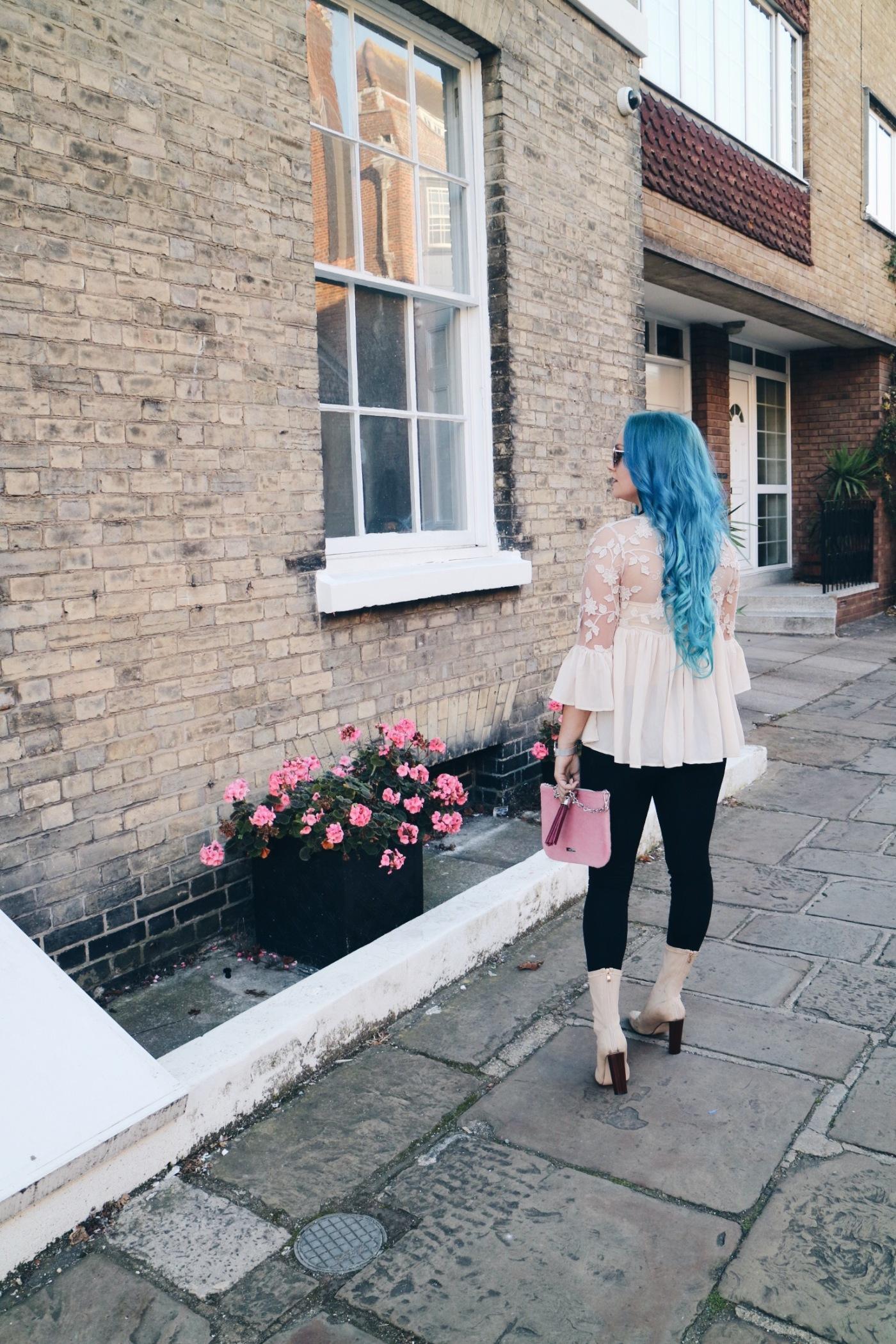 blue hair, fashion blogger, hair goals, mermaid hair, amy sowerby, blogger